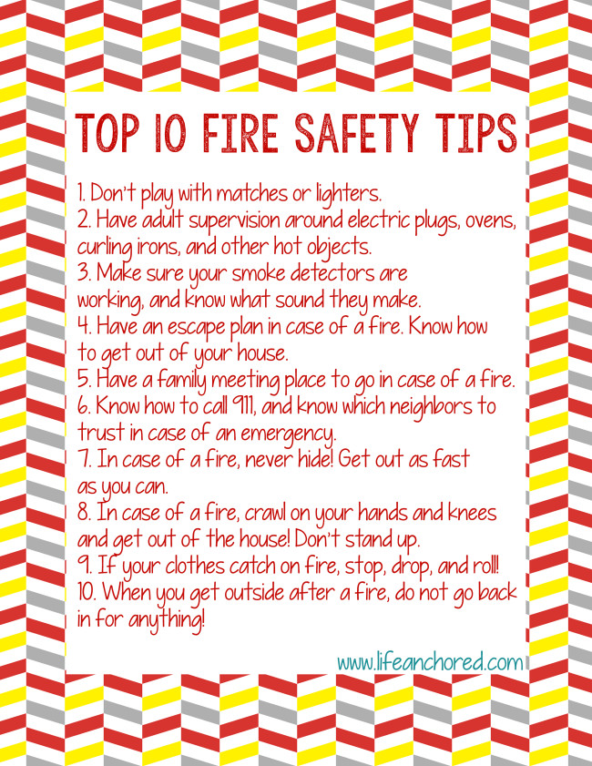 Search results for printable calendars for kids for Fire prevention tips for home